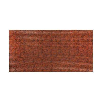 Rib 96 in. x 48 in. Decorative Wall Panel in Moonstone Copper