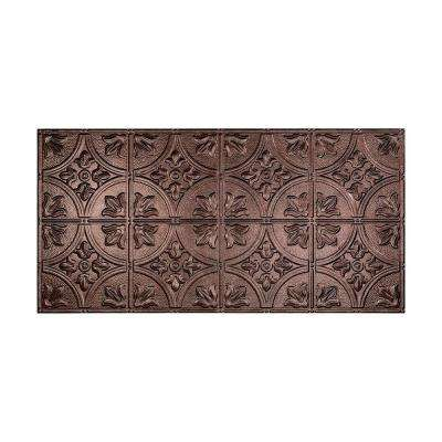 Traditional 2 - 2 ft. x 4 ft. Glue-up Ceiling Tile in Smoked Pewter