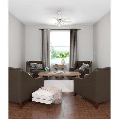 Southern Breeze 42 in. Indoor White Ceiling Fan Bundled with Light and Handheld Remote Control