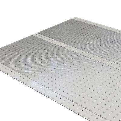Clear 36 in. x 20 ft. Vinyl Ribbed Rug Runner