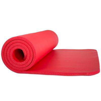 72 in. Non-Slip Luxury Foam Red Camping Sleep Mat