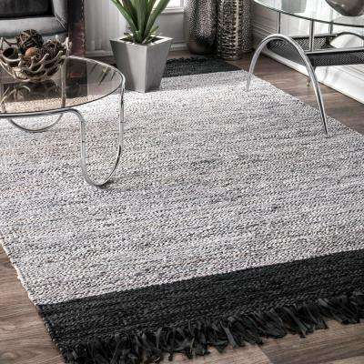 Otha Tassel Silver 2 ft. 6 in. x 8 ft. Runner Rug