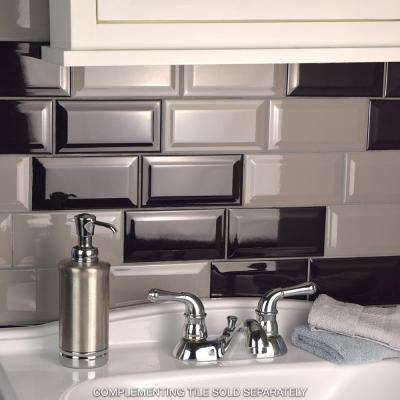 Park Slope Beveled Subway Warm Grey 3 in. x 6 in. Ceramic Wall Tile (19.18 sq. ft. / case)