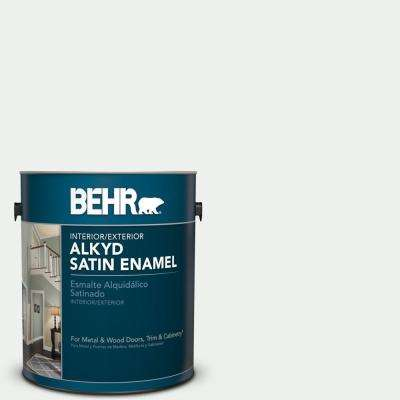 1 gal. #BL-W15 Frost Satin Enamel Alkyd Interior/Exterior Paint