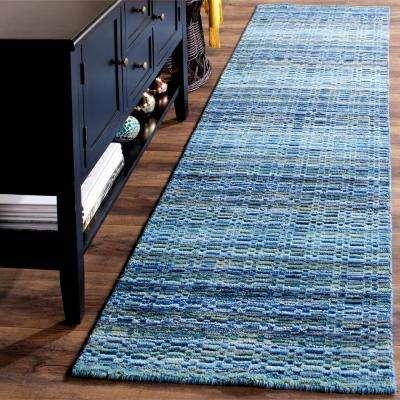 Himalaya Blue/Multi 2 ft. x 8 ft. Runner Rug