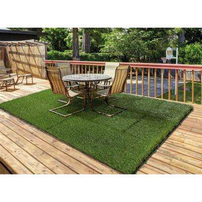 1 ft. x 1 ft. Artificial Grass Interlocking Tiles (9-Pack)
