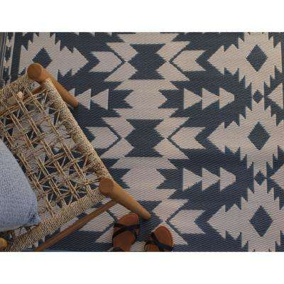 Miramar Indoor/Outdoor Gray 4 ft. x 6 ft. Area Rug