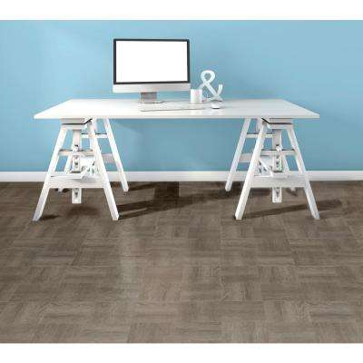 Tivoli Charcoal Grey 12 in. x 12 in. Peel and Stick Parquet Vinyl Tile (45 sq. ft. / case)