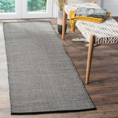 Montauk Ivory/Black 2 ft. 3 in. x 10 ft. Runner