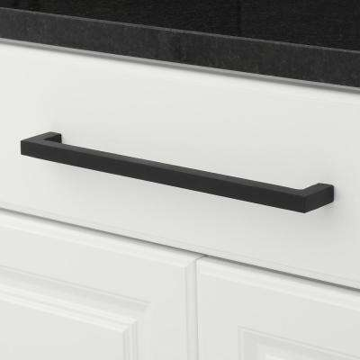 Traditional 12-5/8 in. (320 mm) Center-to-Center Matte Black Cabinet Pull