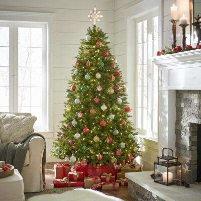 7.5 ft. Pre-Lit LED Matthew Fir Artificial Christmas Tree with 450 SureBright Color Changing Lights