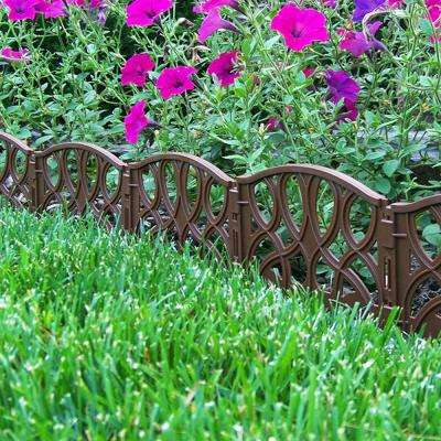 13.5 in. x 7 in. x 6.25 in. Light Brown Polypropylene Scroll Decorative Edging (40-Pieces)