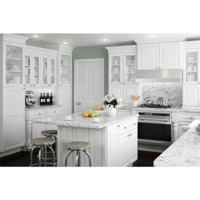 Brookfield Assembled 36x42x12 in. Double Door Wall Kitchen Cabinet in Pacific White