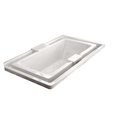 Opal 6.5 ft. Rectangular Drop-in Whirlpool and Air Bath Tub in White