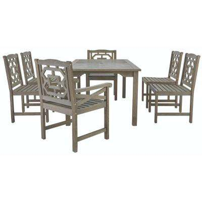 Blue Hill 7-Piece All-Weather Eucalyptus Wood Patio Dining Set