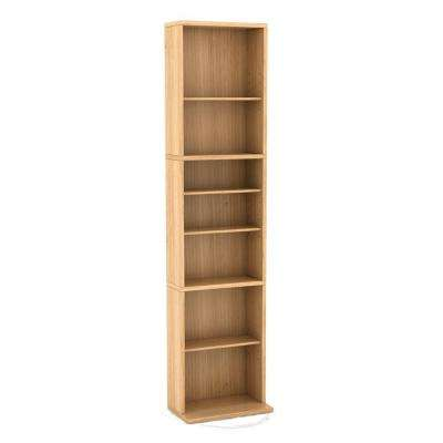 Summit 261 CD or 114 DVD or 132 Blu-Ray Maple Media Storage Cabinet