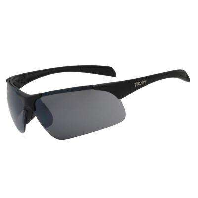 Sport Rubber Finished Black Hurricane Sunglasses