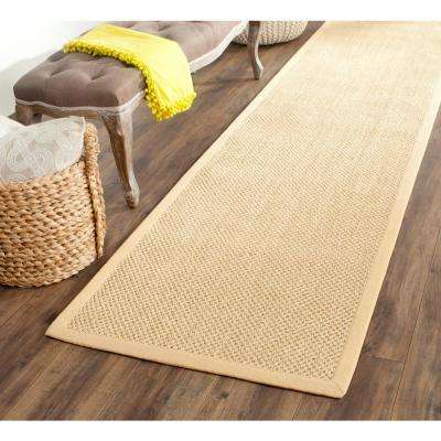 Natural Fiber Maize/Wheat 3 ft. x 10 ft. Runner Rug