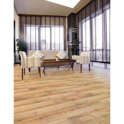 Arbor Cognac 6 in. x 36 in. Porcelain Floor and Wall Tile (15 sq. ft. / case)