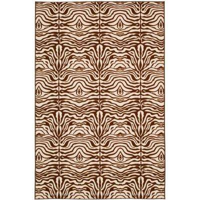 Metropolis Cream/Brown 5 ft. 3 in. x 7 ft. 11 in. Area Rug