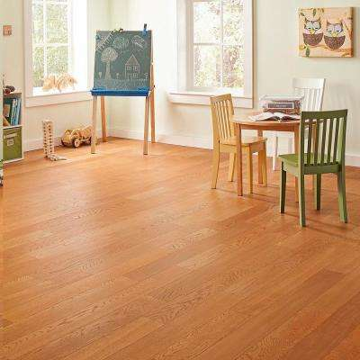 Wire Brushed Oak Havana 3/8 in. T x 5 in. W x Varying Length Click Lock Hardwood Flooring (19.686 sq. ft. / case)