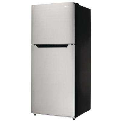 10.1 cu. ft. Top Freezer Refrigerator in Stainless Steel, Counter Depth