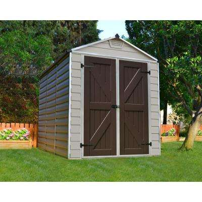 SkyLight 6 ft. x 8 ft. Tan Storage Shed