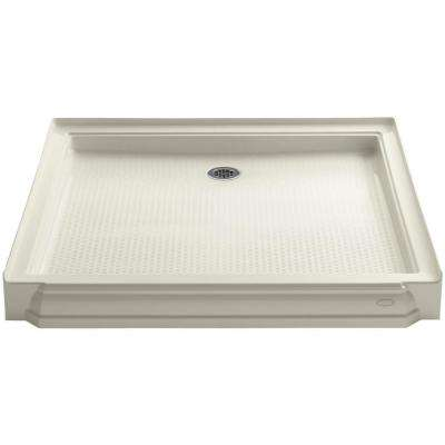 Memoirs 48 in. x 48 in. Single Threshold Shower Base in Biscuit