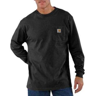 Men's Workwear Long-Sleeve Pocket T-Shirt