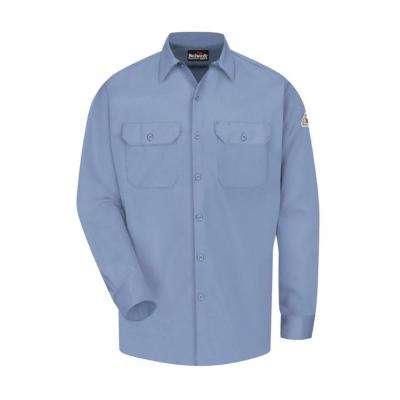 ECEL FR ComforTouch Men's Light Blue Work Shirt