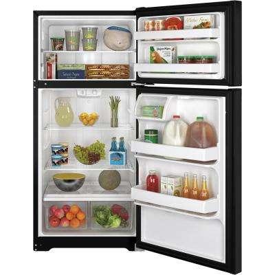 14.6 cu. ft. Top Freezer Refrigerator in Black