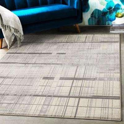 Aldona Charcoal 3 ft. 11 in. x 5 ft. 7 in. Geometric Area Rug