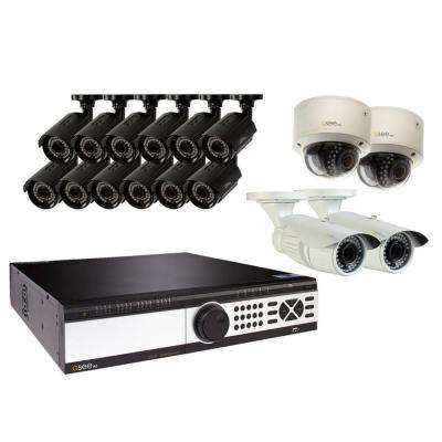 32-Channel 1080p 8TB Video Surveillance System with (12) Bullet Cameras, (2) Dome Cameras and (2) Auto-Focus Cameras