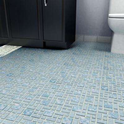 University Blue 11-3/4 in. x 11-3/4 in. x 5 mm Porcelain Mosaic Tile (9.8 sq. ft. / case)
