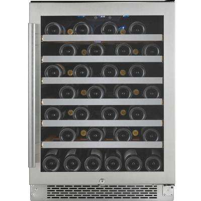 54-Bottle Single Temperature Zone Built-In Wine Cooler with Argon Filled Double Paned Glass