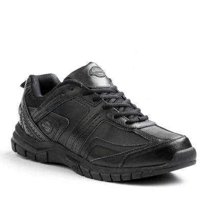 Vanquish Men Black Slip Resistant Safety Work Shoe