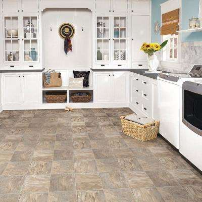 FlexStep Value Plus Coral Sand 12 ft. Width x Custom Cut Length Residential Vinyl Sheet Flooring