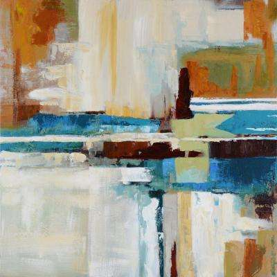 "40 in. x 40 in. ""Rhapsody"" Hand Painted Contemporary Artwork"