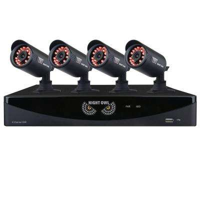 8-Channel 960H Security System with 1 TB HDD Surveillance DVR, 4 x 650 Bullet Cameras Refurbished