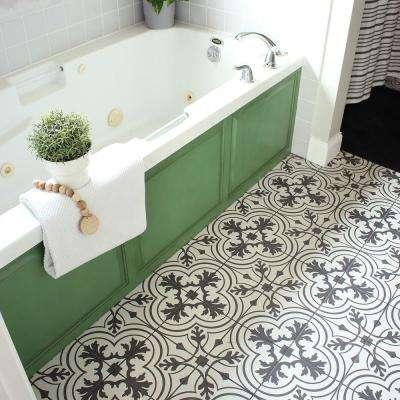 Twenties Vintage Encaustic Ceramic Floor and Wall Tile - 7-3/4 in. x 7-3/4 in. Tile Sample
