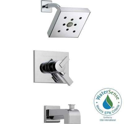 Vero 1-Handle H2Okinetic Tub and Shower Faucet Trim Kit in Chrome (Valve Not Included)