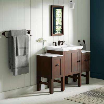 Chambly 48 in. W Vanity in Woodland with Ceramic Vanity Top in White with White Basin
