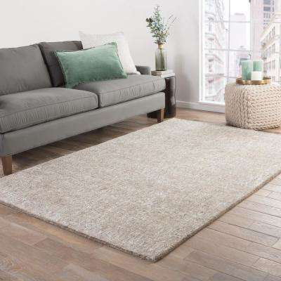 Silver Gray 8 ft. x 10 ft. Solid Area Rug