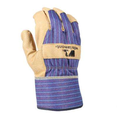 Large Grain Leather Palm Work Gloves