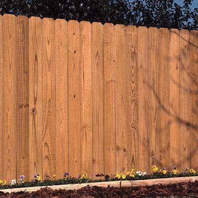 5/8 in. x 5-1/2 in. x 6 ft. Pressure-Treated Cedar-Tone Dog-Ear Fence Picket