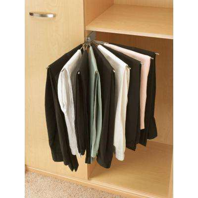 2.25 in. H x 16.13 in. W x 16.13 in. D Static Chrome Static Wire Fan Pants Rack