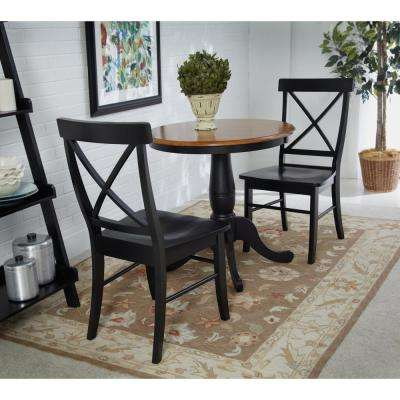 Pair of X Back Dining Chair in Black (2-Pack)