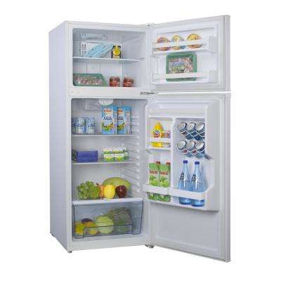 10.0 cu. ft. Top Freezer Refrigerator with Dual Door, Frost Free in White