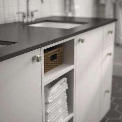 Mandara 1-1/4 in. (32mm) Satin Nickel Square Cabinet Knob (25-Pack)