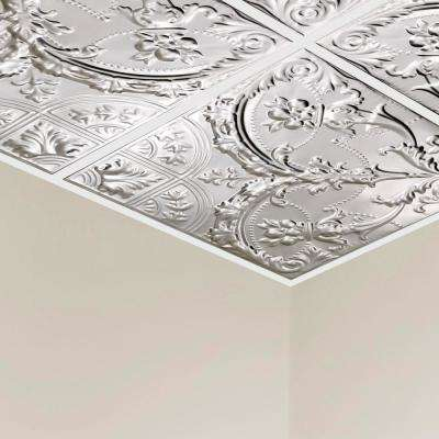 Saginaw 2 ft. x 2 ft. Lay-in Tin Ceiling Tile in Unfinished (20 sq. ft. / case of 5)